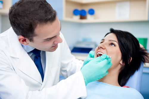 Woman having Root Canal Treatment